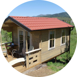 Romantic wooden house rental